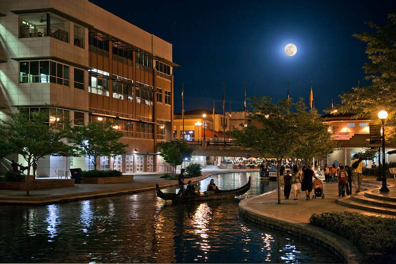 John Wark   Pueblo Riverwalk At Night