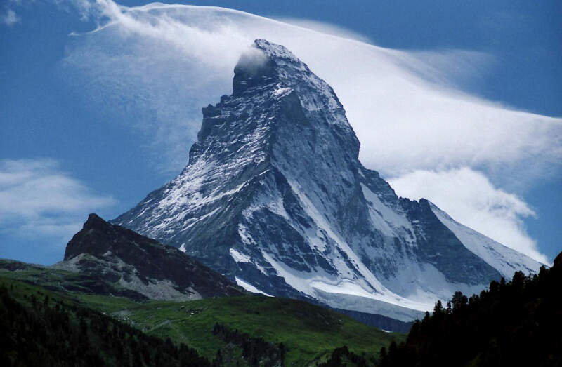 Peak Of The Matterhornc Seen From Zermattc Switzerland