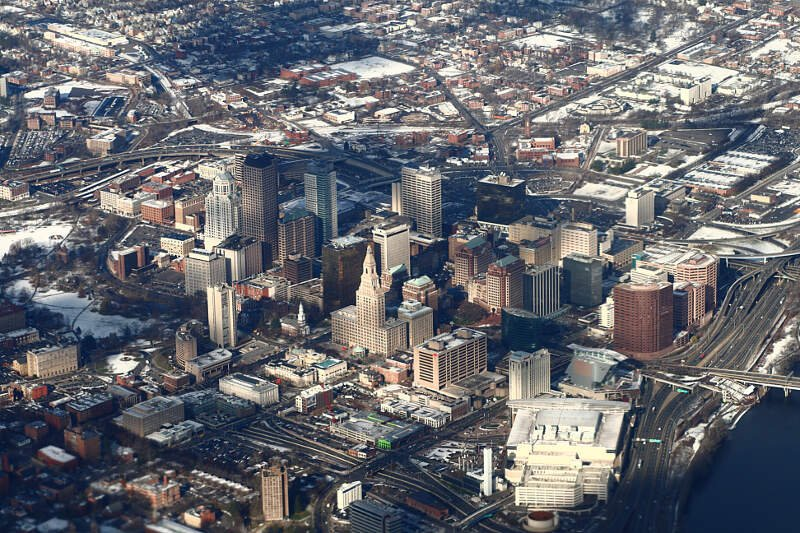 Downtown Hartford From Abovec