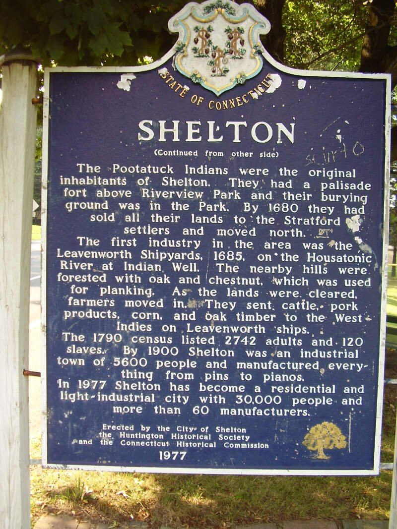 Shelton Ct Historical Town Sign