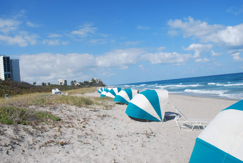 Looking South On Beach At Boca Ratonc Florida