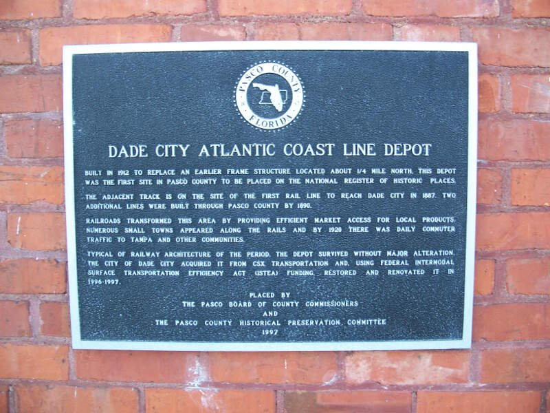 Dade City Acl Railroad Depot