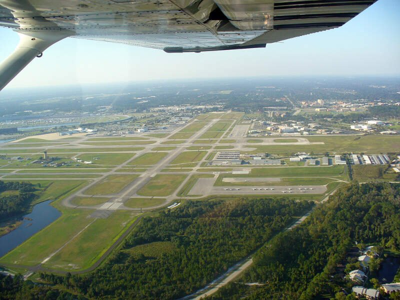 Aerial View Of Runway Rc Daytona Beach International Airportc