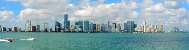 Downtown Miami Panorama From The Rusty Pelican Photo D Ramey Logan