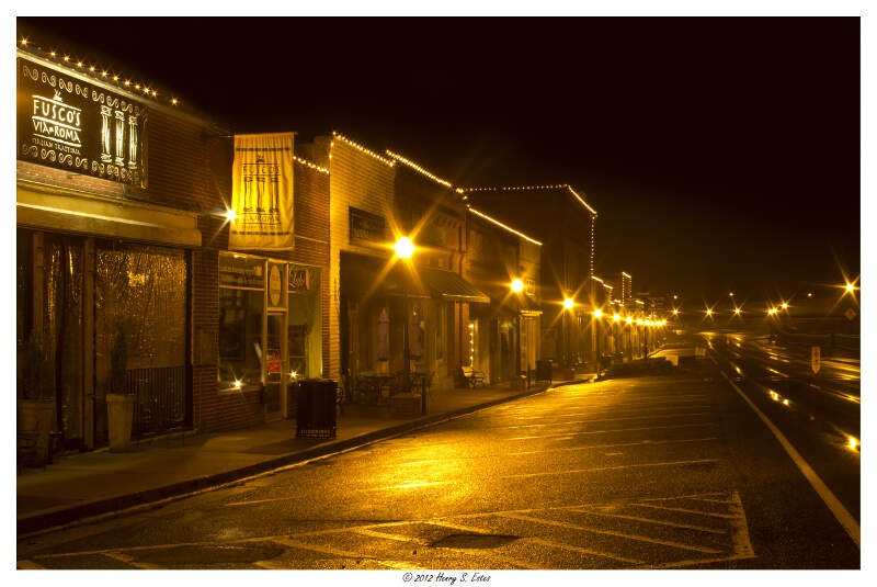 Nighttime At Downtown Acworth