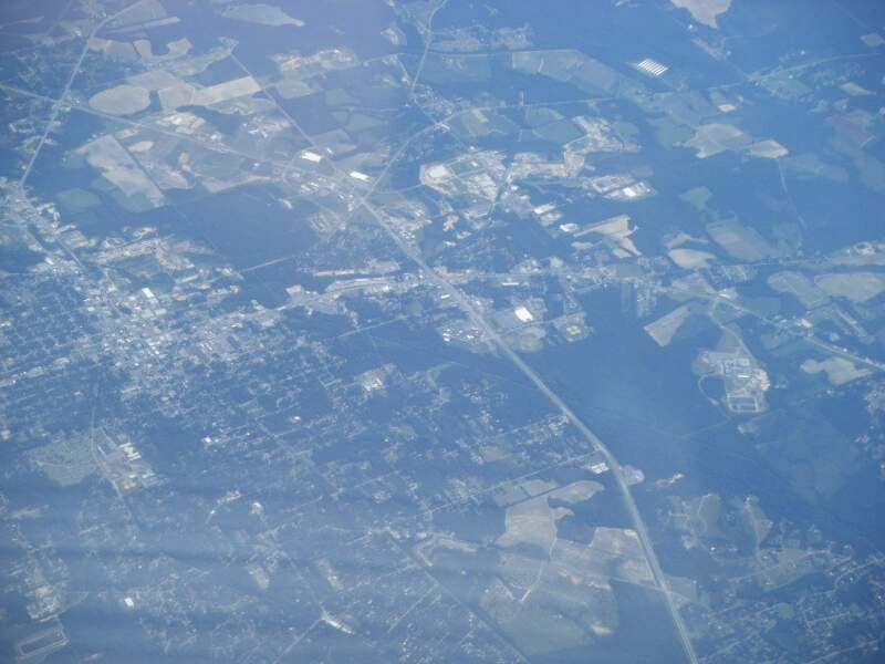 Moultrie Ga From Airplane