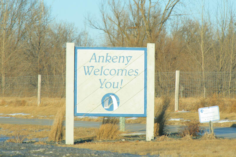 Ankeny Iowa  Welcome Sign