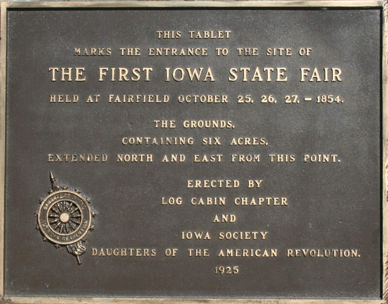 First Iowa State Fair Commemorative Plaque
