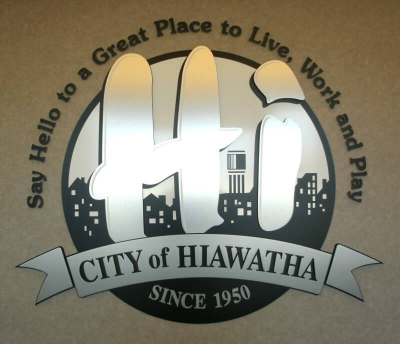 Wall Plaque Of Hiawatha Iowa Seal