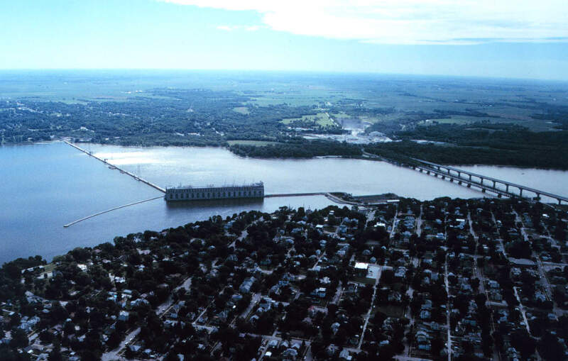 Mississippi River Lock And Dam Number  Near Keokuk Iowa