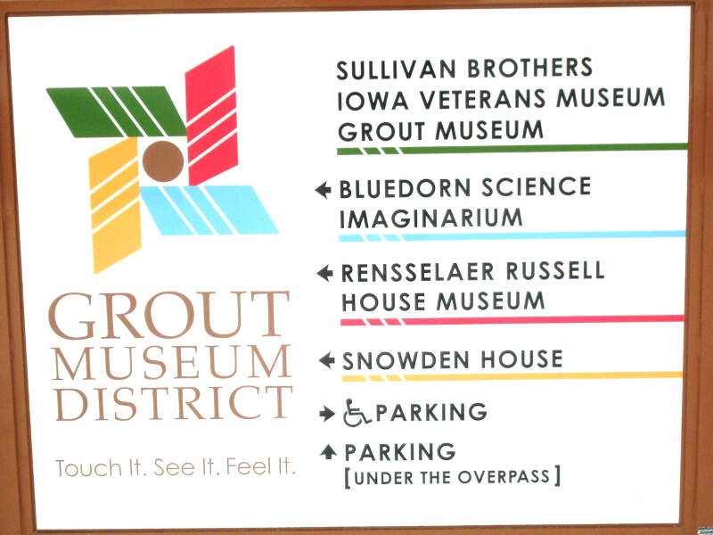 Grout Museum District Sign Waterloo Ia Pic
