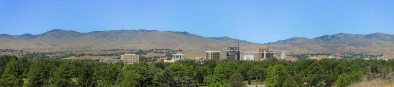 June Boise Downtown Panorama