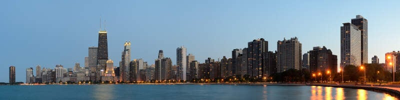 Chicago From North Avenue Beach June Panorama