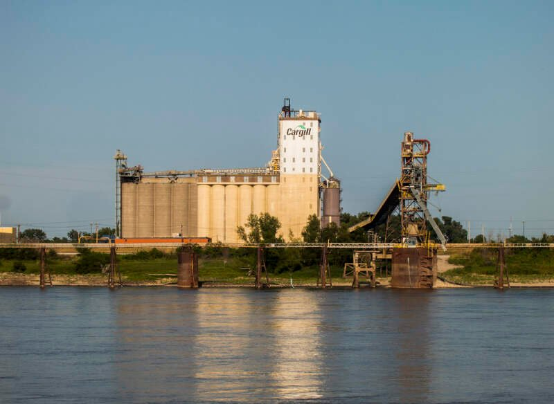 Cargill And Grain Elevator In East St