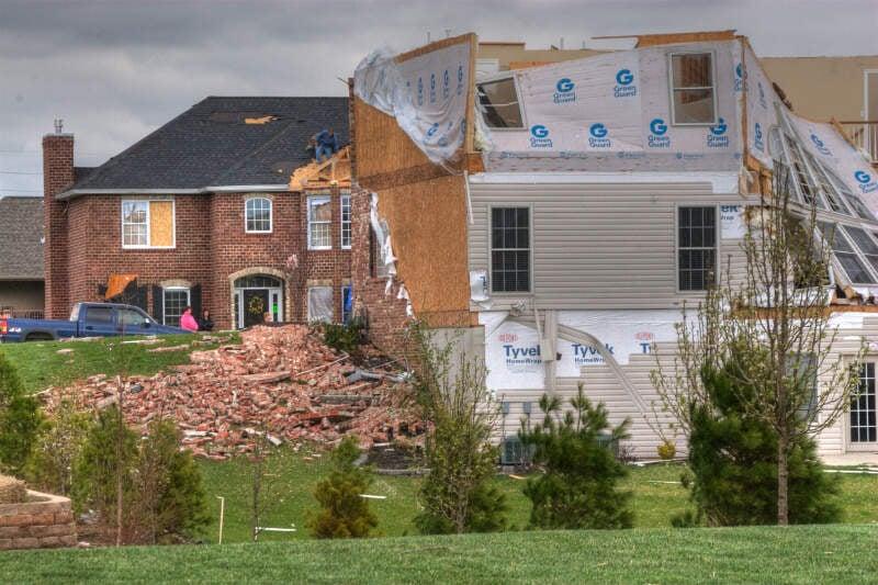 Tornado Damagec Illinois