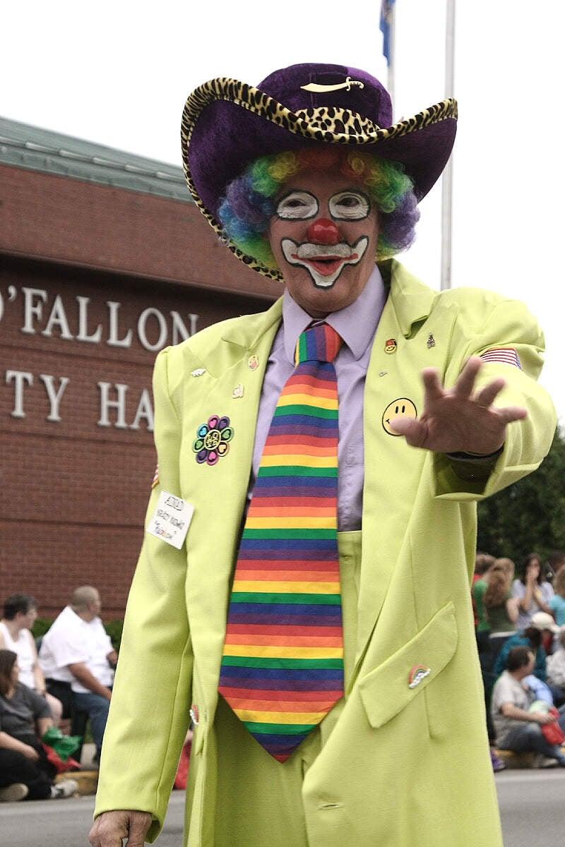 Clown At The Mayfest Parade Ofallonc Illinois