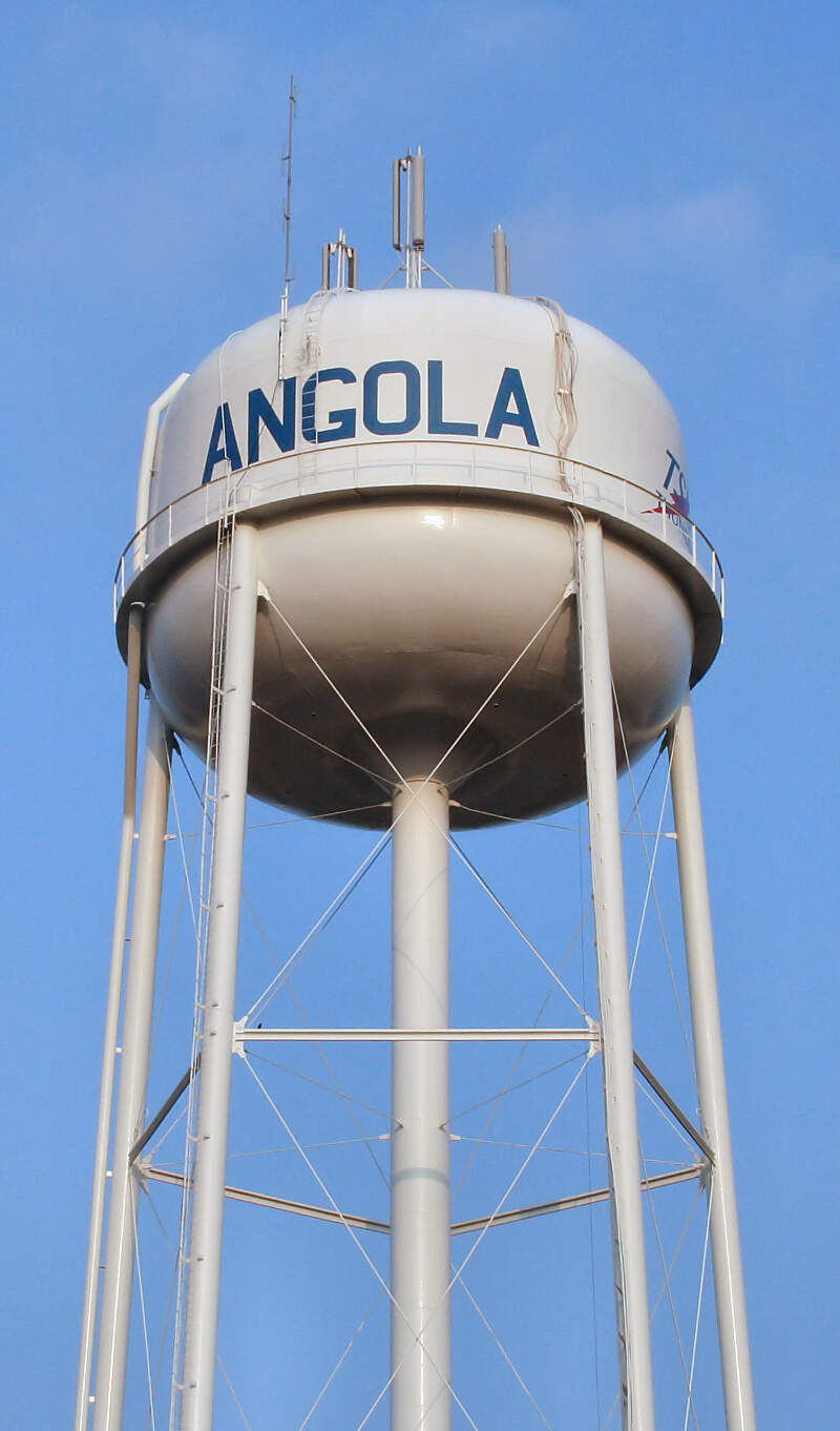 Angola Indiana Water Tower