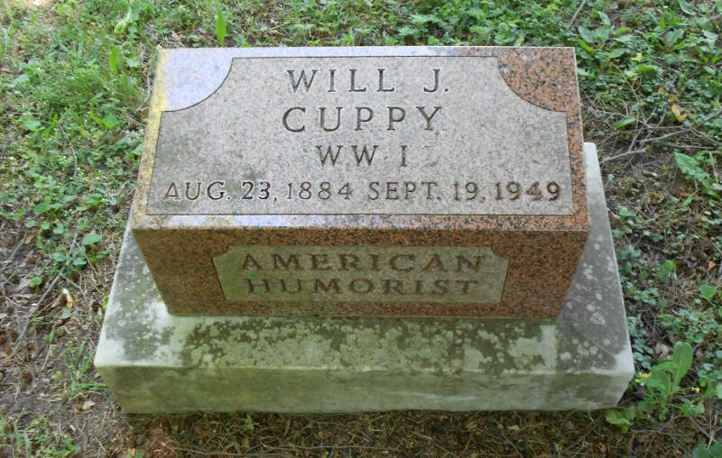 Will Cuppy Grave Marker