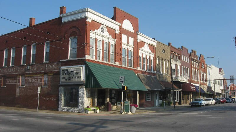 Third Street At Courthouse Square In Boonville