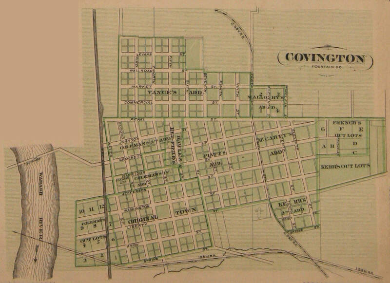 Covingtonc Indiana Map From Atlas