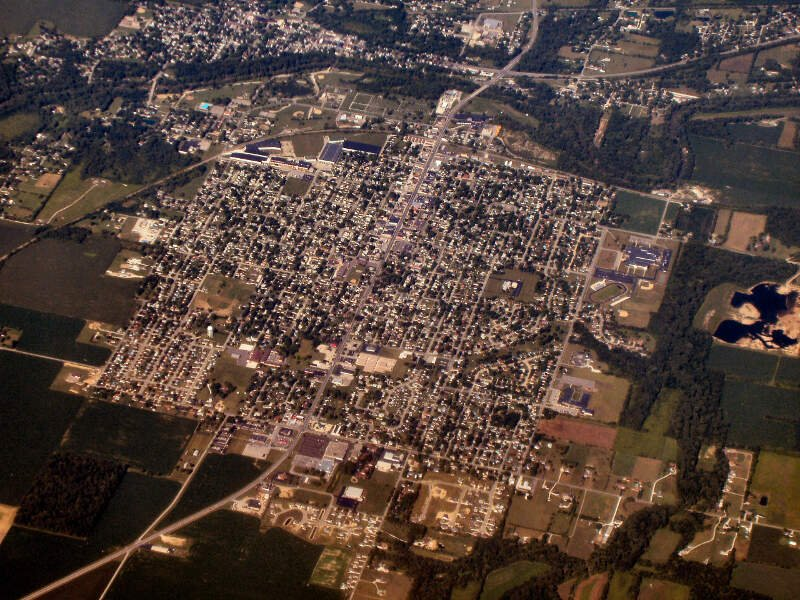 Gas City Indiana From Above