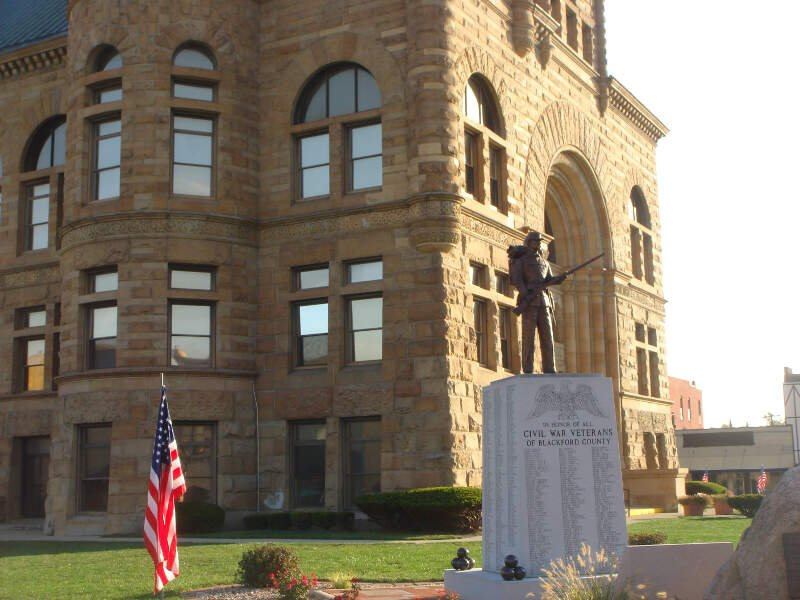 Blackford County Civil War Monument In Hartford City In