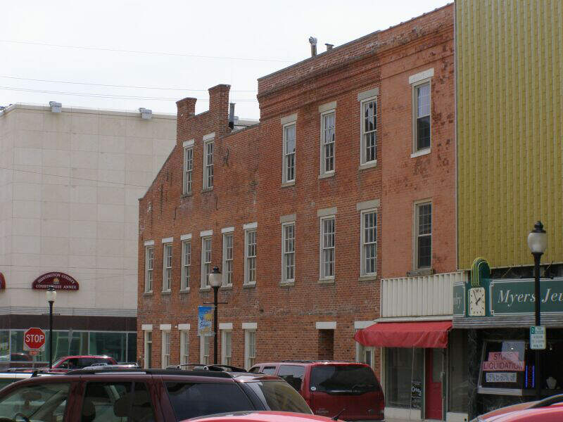 Huntington Indiana Wabash N Erie Canal Brick Bldg