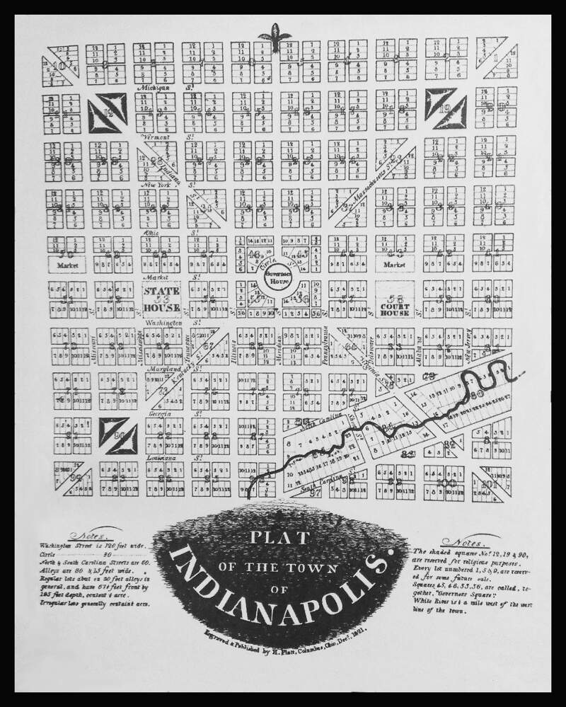 Plat Of The Town Of Indianapolis