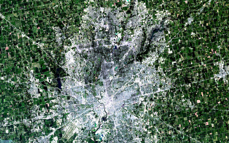 Nasa Satellite Captures Super Bowl Cities  Indianapolis
