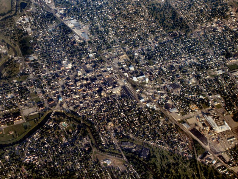 Muncie Indiana Downtown From Above