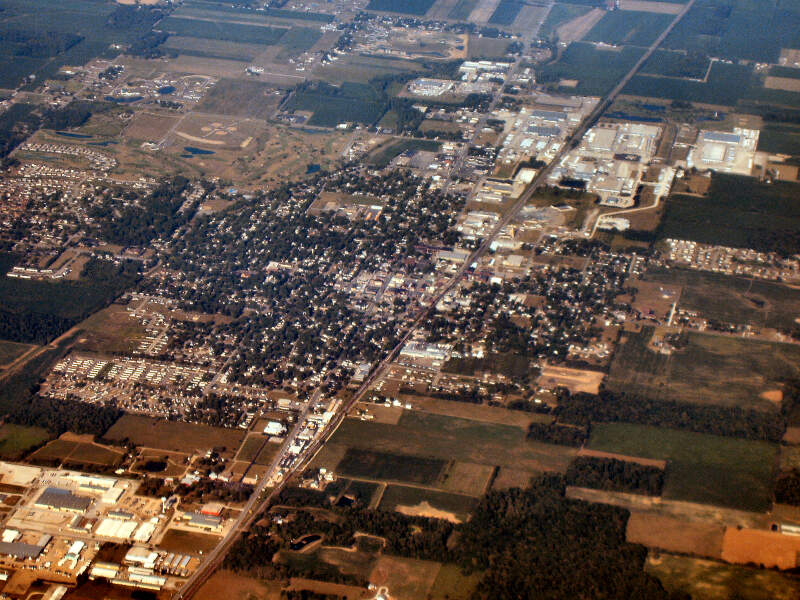 Nappanee Indiana From Above Close