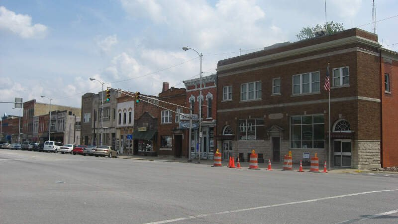 Main Street In North Manchester