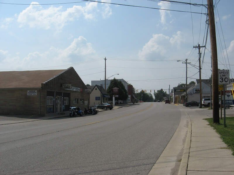 Main Street Looking Westc Pittsboro Indiana