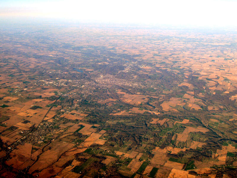 Richmond Indiana From Above