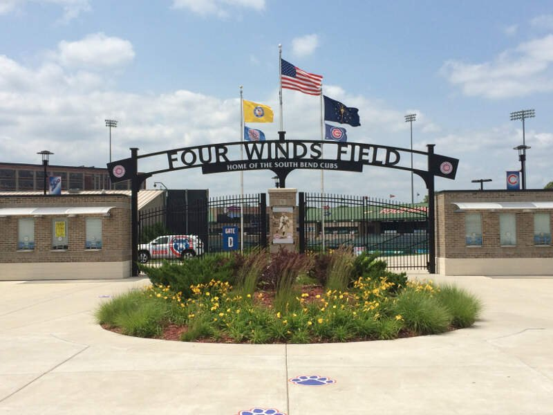 Four Winds Field At Coveleski Stadium Gate D Closeup