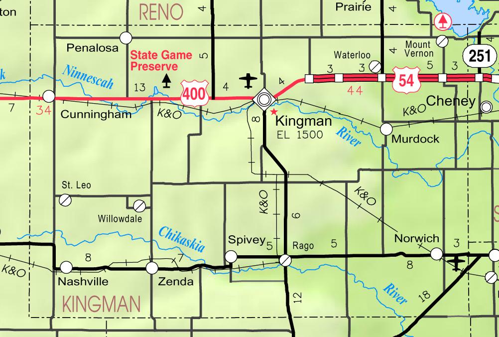 Map Of Kingman Coc Ksc Usa