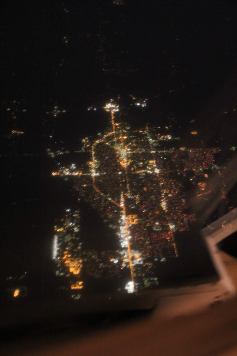 Salinac Kansas Aerial Photo At Night