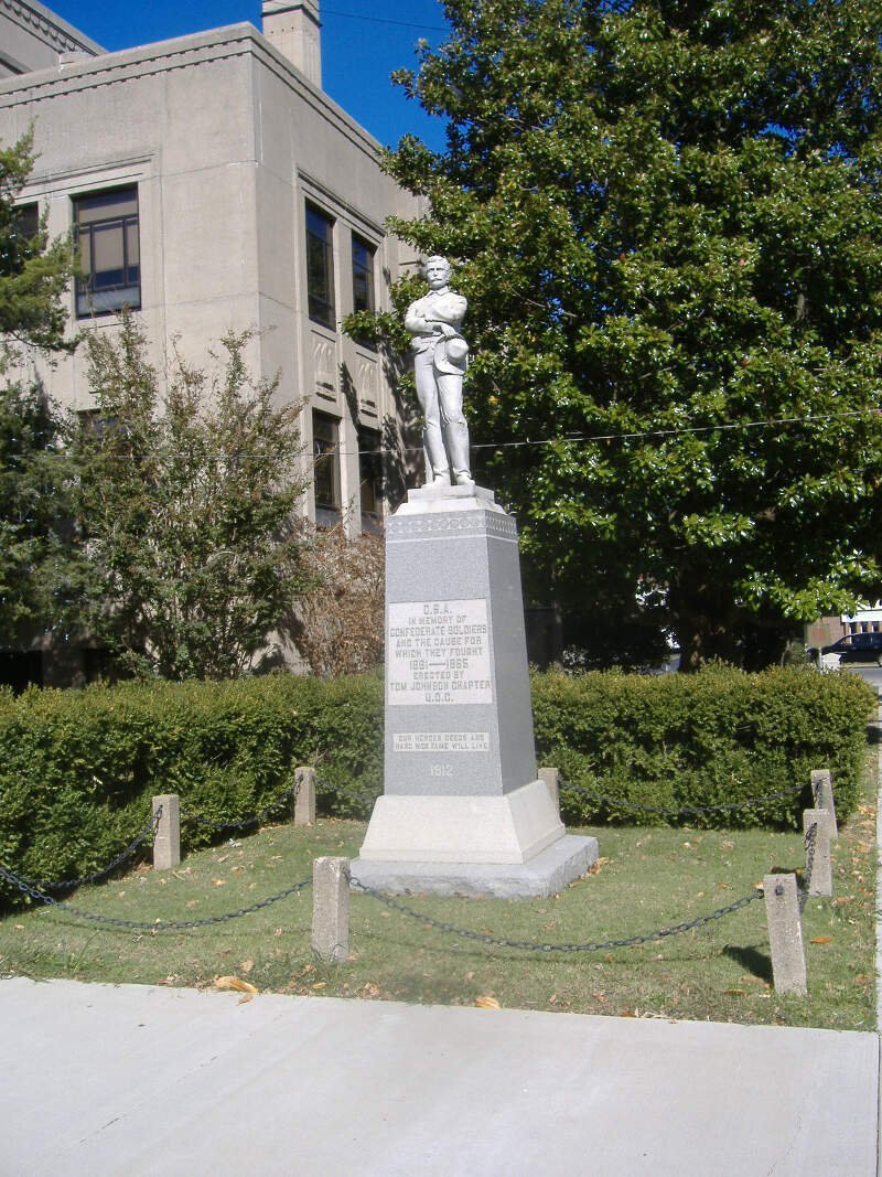 Confederate Soldier Monument In Caldwell