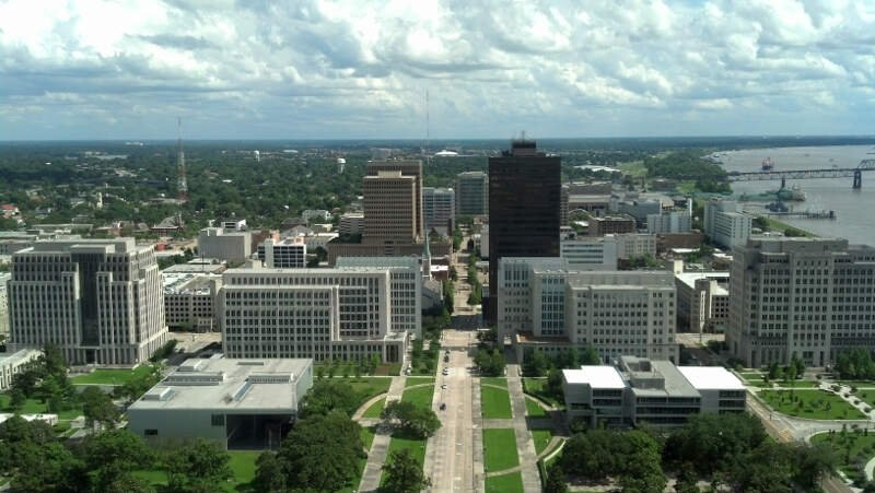 Downtown Baton Rouge From Louisiana State Capitol