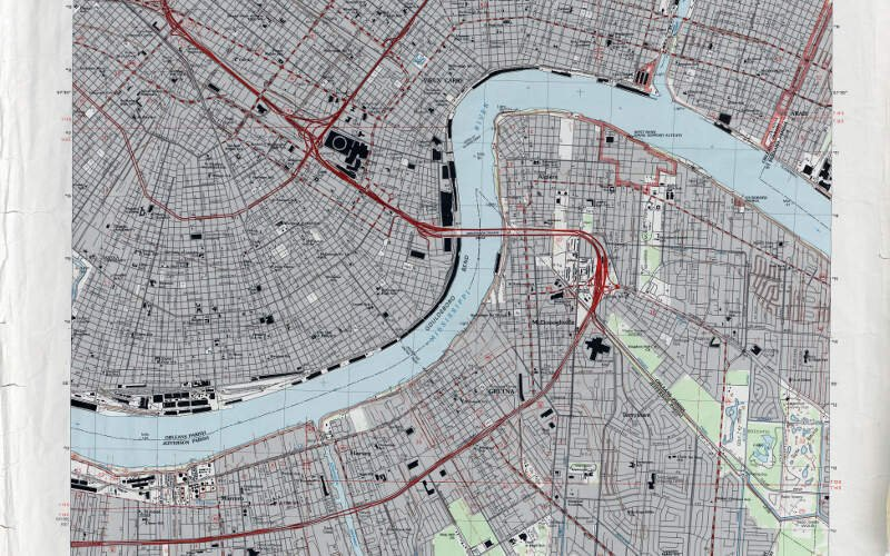 New Orleans Section And West Bank  Map