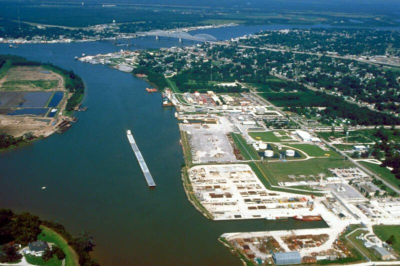 Morgan City Louisiana Aerial View