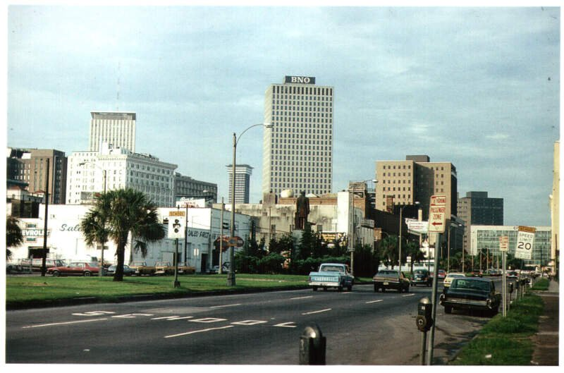 New Orleans Basin Street Looking Towards Canal Street
