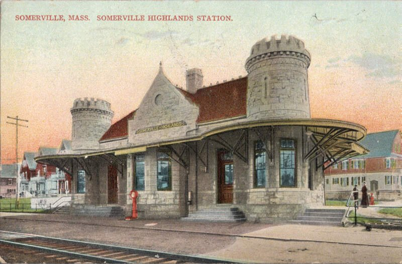 Somerville Highlands Station  Postcard