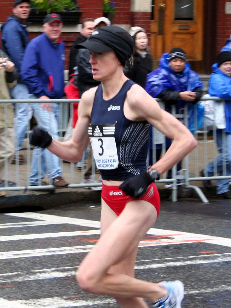 Deena Kastor At The Boston Marathon