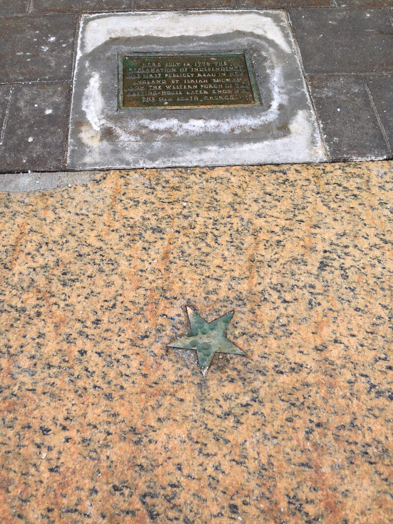 The Star On The Sidewalkc Worcesterc Massachusetts