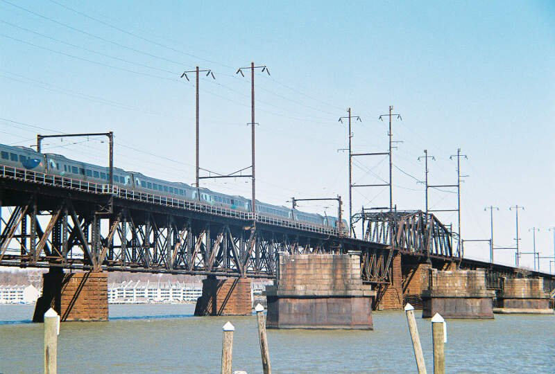 Acela On Susquehanna Bridge