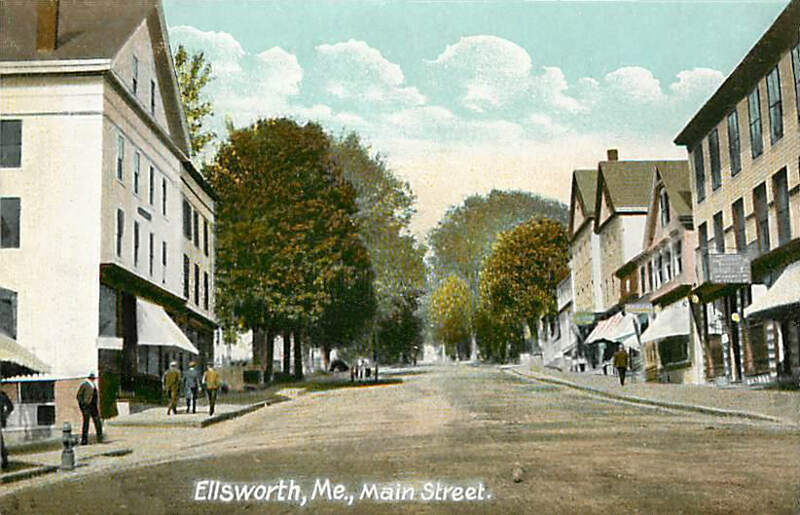 View Of Main Streetc Ellsworthc Me