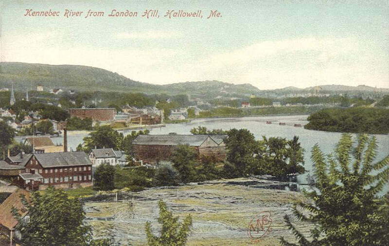 Kennebec River From London Hillc Hallowellc Me