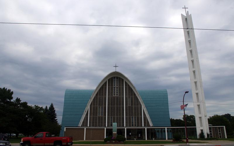 Saint Clement Church Center Line Michigan   Exterior View From Across Van Dyke Avenue