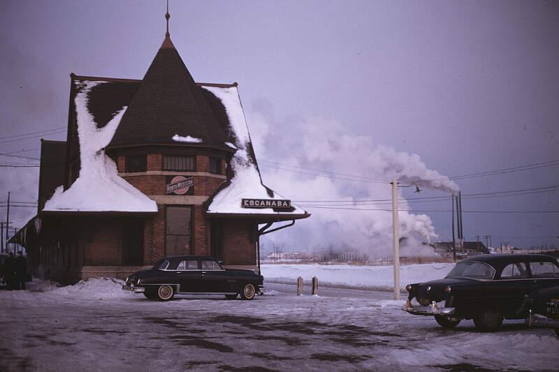 Chicago And North Western Railway Station Escanaba Michigan